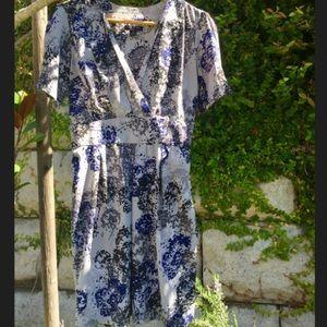 Banana Republic Flowy V-Neck Dress (Size 6p)